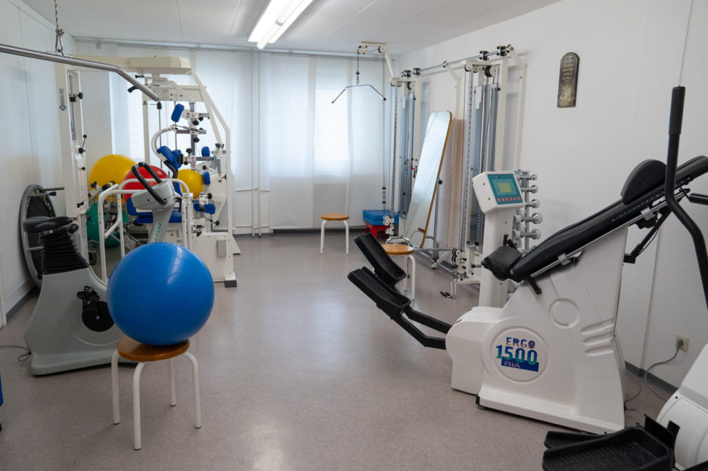 Trainingsgeräte Trainingsbereich Osteopathie Ludwigshafen